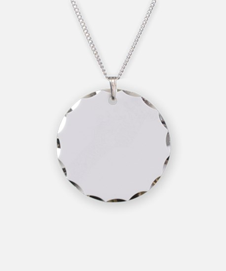 guitar headstockwht1 Necklace Circle Charm