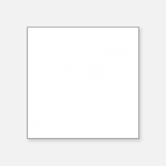 "guitar headstockwht1 Square Sticker 3"" x 3"""