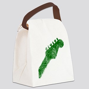 guitar headstock green2 Canvas Lunch Bag