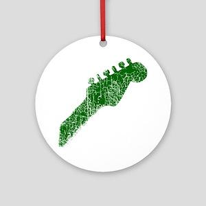 guitar headstock green2 Round Ornament