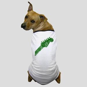 guitar headstock green2 Dog T-Shirt