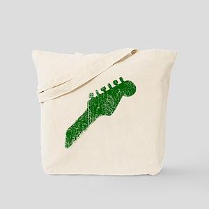 guitar headstock green2 Tote Bag