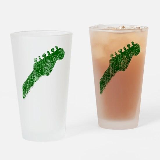 guitar headstock green2 Drinking Glass