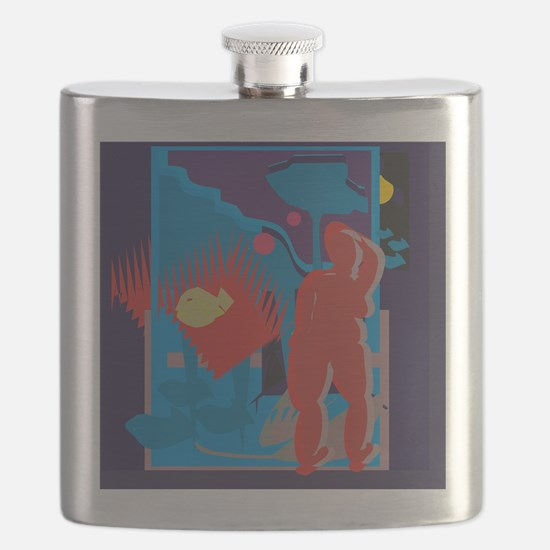 Drinking Blue Flask
