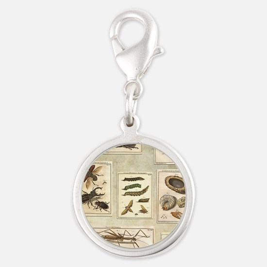 Illustrations Silver Round Charm