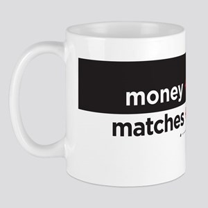 money+politics/matches+gasoline Mug
