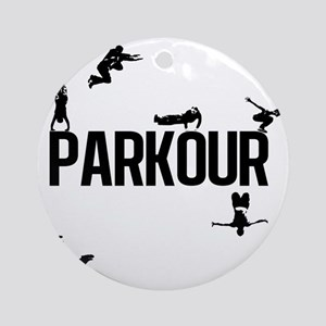 parkour4 Round Ornament