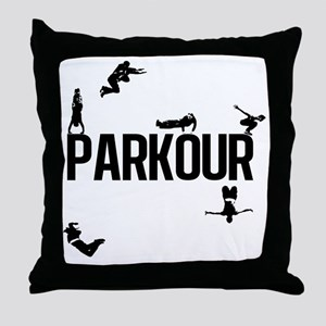 parkour4 Throw Pillow