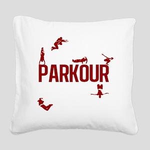 parkour4-3 Square Canvas Pillow