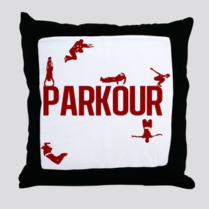 parkour4-3 Throw Pillow