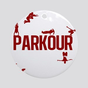 parkour4-3 Round Ornament