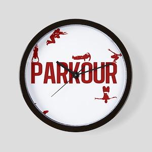 parkour4-3 Wall Clock