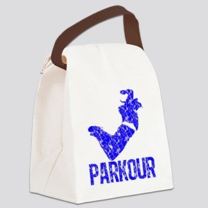parkour distressed blue Canvas Lunch Bag