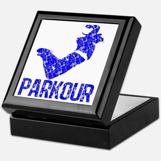parkour distressed blue Keepsake Box