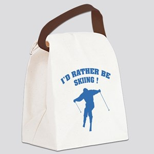 ratherbeSkiing4 Canvas Lunch Bag