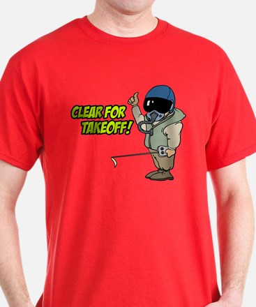 Cleared For Takeoff Dark Color T-Shirt