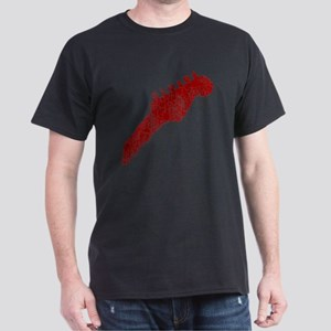 guitar headstock red1 Dark T-Shirt