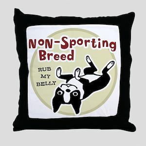 bostonnonsportingred2 Throw Pillow
