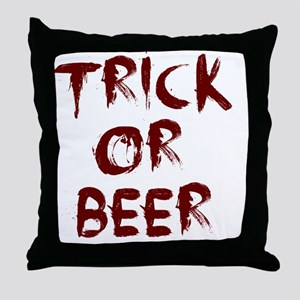 trick or beer blood Throw Pillow
