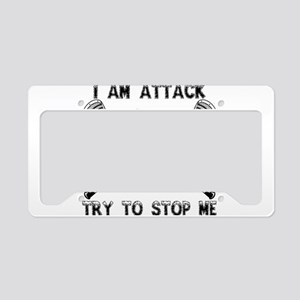 Lacrosse Attackman License Plate Holder