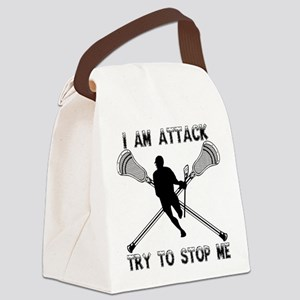 Lacrosse Attackman Canvas Lunch Bag