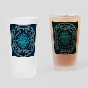 StarrySkyYantraTile Drinking Glass