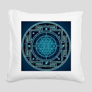 StarrySkyYantraTile Square Canvas Pillow