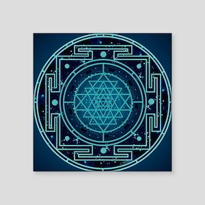 """StarrySkyYantraTile Square Sticker 3"""" x 3"""""""