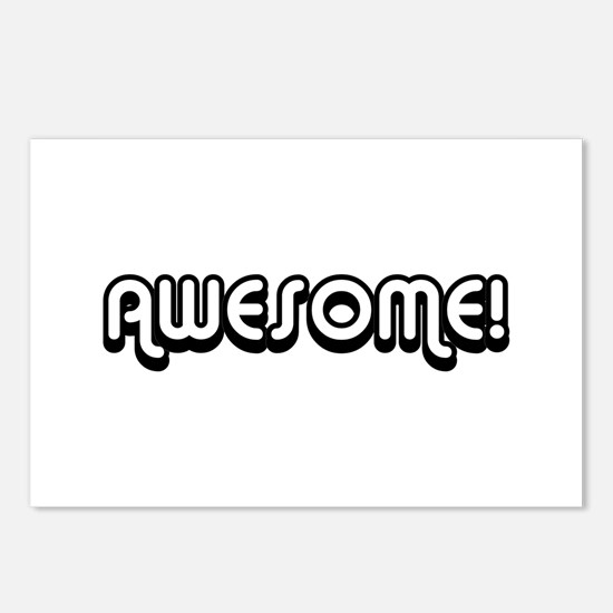 Black Awesome 80's Text Postcards (Package of 8)