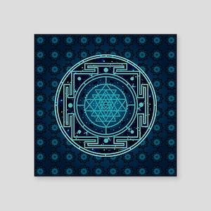 """StarrySkyYantraTile3 Square Sticker 3"""" x 3"""""""