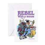 Rebel With A Mouse Greeting Cards (Pk of 10)