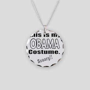 ThisIsMy_Obama_Costume Necklace Circle Charm