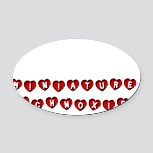 MINIATURE SCHNOXIE Oval Car Magnet