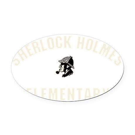 shelementary_dark Oval Car Magnet