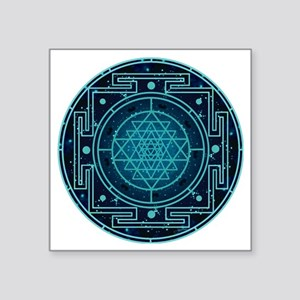 "StarrySkyYantra Square Sticker 3"" x 3"""