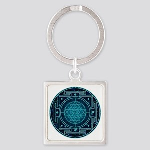 StarrySkyYantra Square Keychain