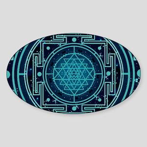 StarrySkyYantraCalendar Sticker (Oval)