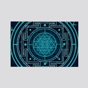 StarrySkyYantraCalendar Rectangle Magnet