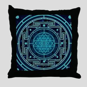 StarrySkyYantraCalendar Throw Pillow