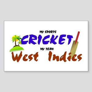 West Indies Cricket Rectangle Sticker
