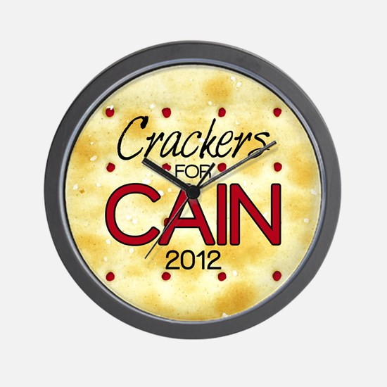 2-25_crackers_cain_off Wall Clock