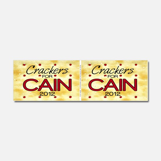 _sticker_crackers_cain Car Magnet 10 x 3