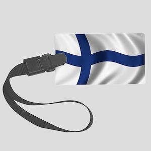 finland_flag Large Luggage Tag