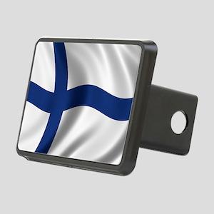 finland_flag Rectangular Hitch Cover