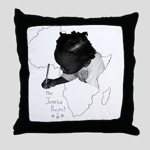 Jeneba Project Tshirt Design2 Throw Pillow