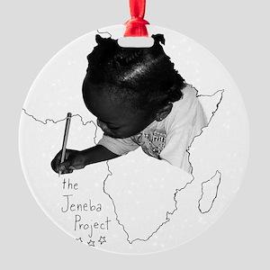Jeneba Project Tshirt Design2 Round Ornament