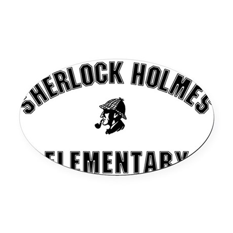 shelementary Oval Car Magnet