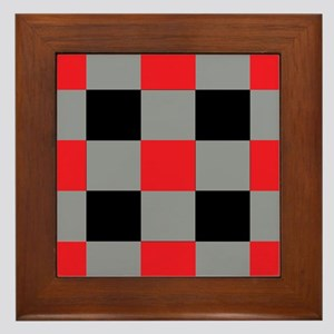 black red checkerboard wall art cafepress