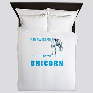 Unicorns Are Awesome Queen Duvet