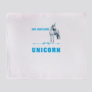 Unicorns Are Awesome Throw Blanket